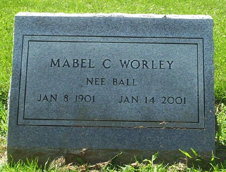 Mabel Charlotte <i>Ball</i> Worley