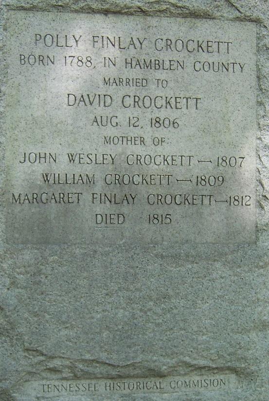 Mary Polly <i>Finley</i> Crockett
