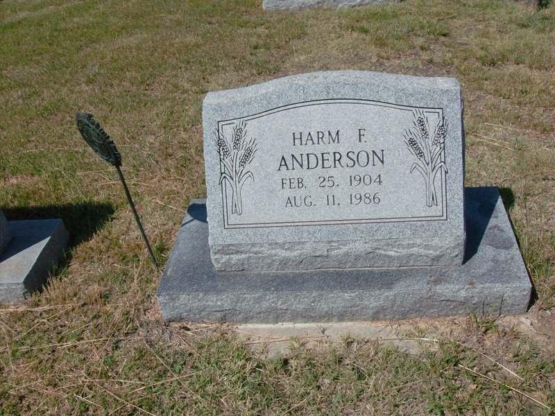 Harm Frederick Anderson