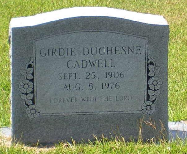 Girdie <i>Duchesne</i> Cadwell