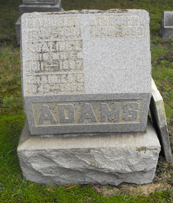 Adaline L <i>Churchill</i> Adams