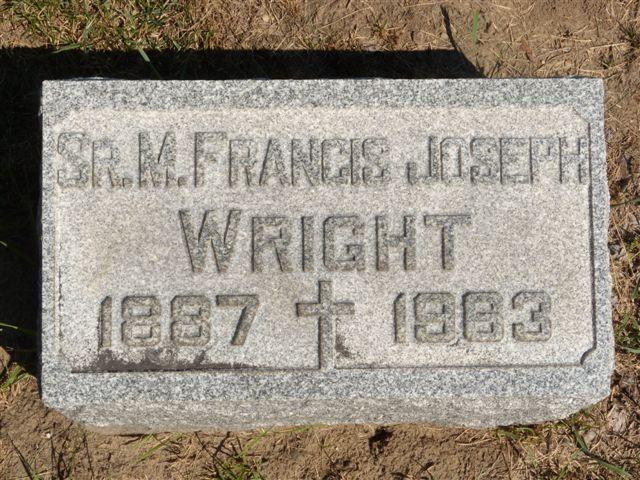 Sr Mary Francis Joseph Wright