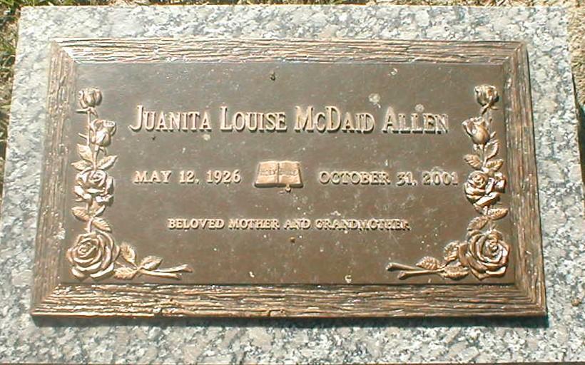 Juanita Louise <i>McDaid</i> Allen