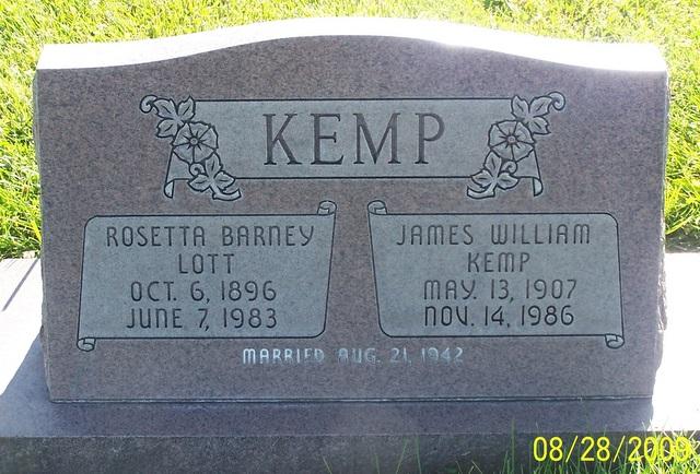 Rosetta <i>Barney</i> Kemp