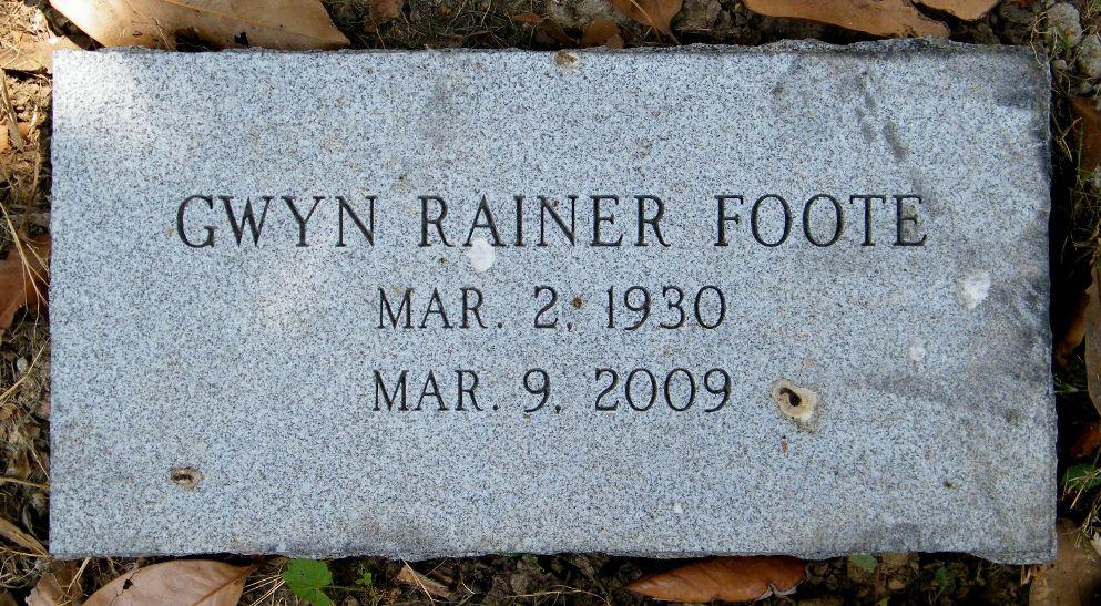 Gwyn <i>Rainer</i> Foote