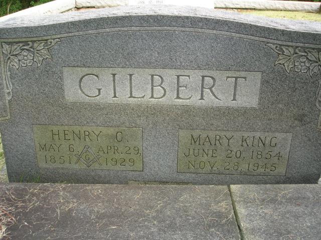 Mary <i>King</i> Gilbert