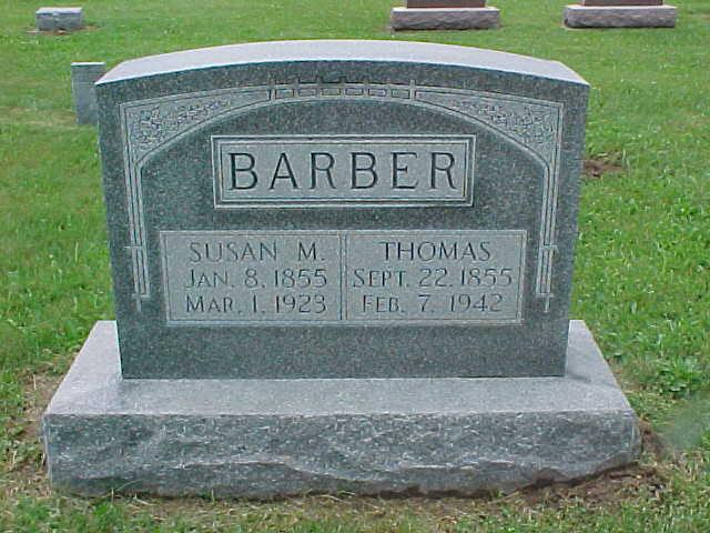 Susan M <i>Griner</i> Barber