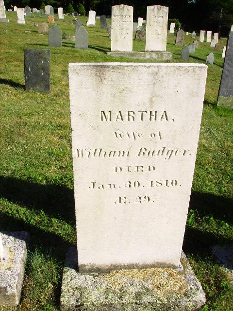 Martha <i>Smith</i> Badger