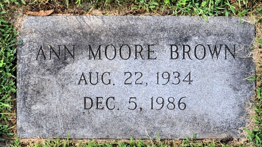 Ann <i>Moore</i> Brown
