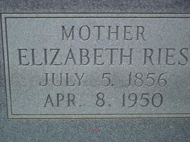 Elizabeth <i>Schneider</i> Ries