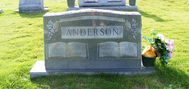 Eunice <i>Stricklin</i> Anderson