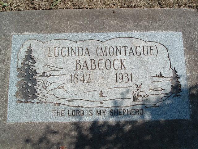 Lucinda Hannah <i>Montague</i> Babcock