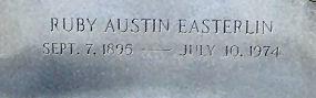 Ruby Ethel <i>Austin</i> Easterlin