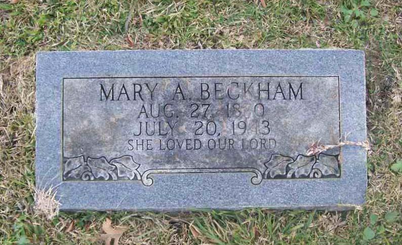 Mary Amanda <i>Page</i> Beckham