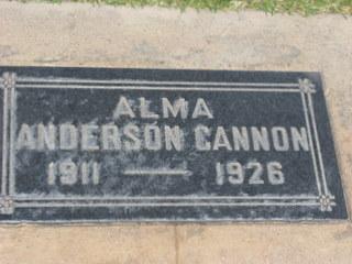 Alma Anderson Cannon