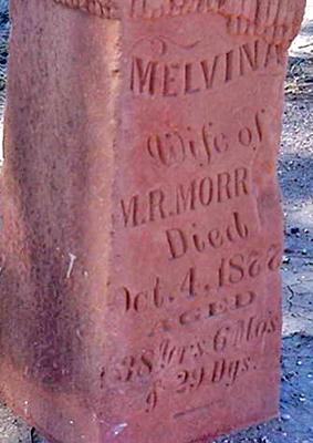 Melvina E. <i>Teel</i> Morrell