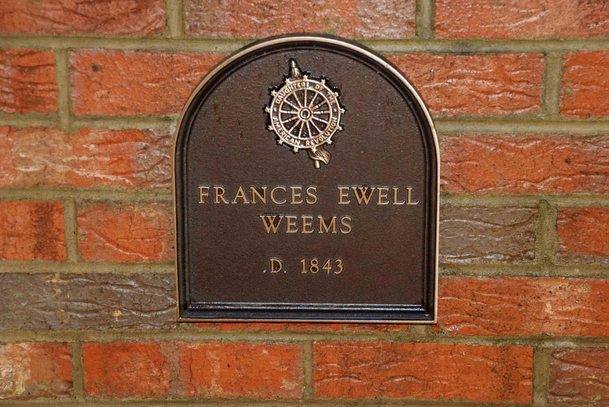 Frances Fannie <i>Ewell</i> Weems