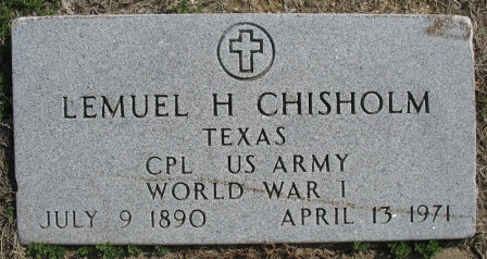 Lemuel Howell Lem Chisholm