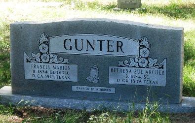 Bethena Sue <i>Archer</i> Gunter