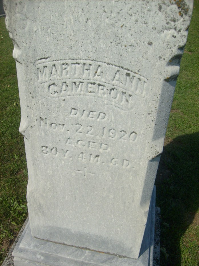Martha A. <i>Fort</i> Cameron