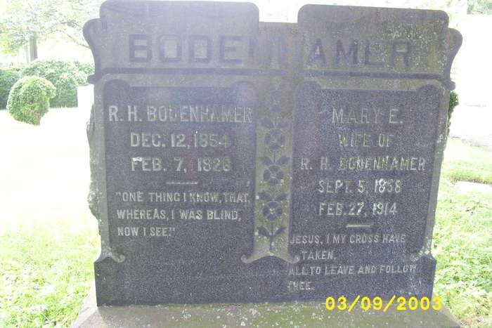 Mary E. <i>Perryman</i> Bodenhamer