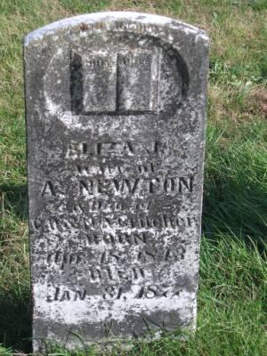 Eliza Jane Jane <i>Critcher</i> Newton