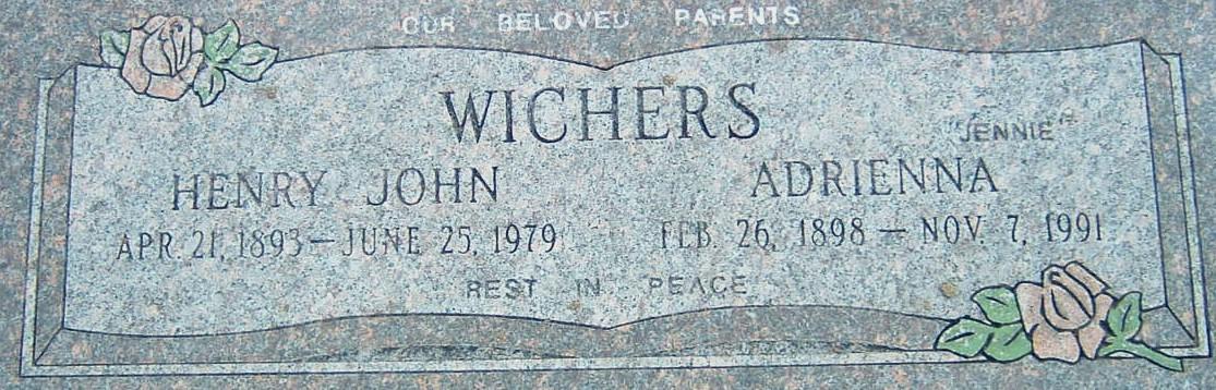 Adrienna 'Jennie' <i>Edel</i> Wichers