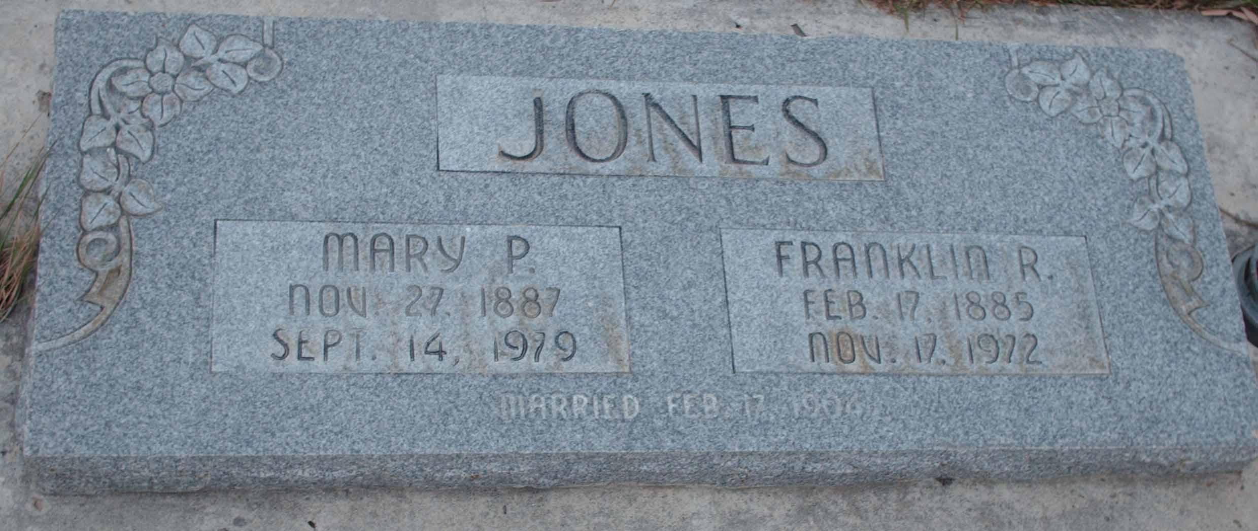 Mary Julia <i>Pulsipher</i> Jones