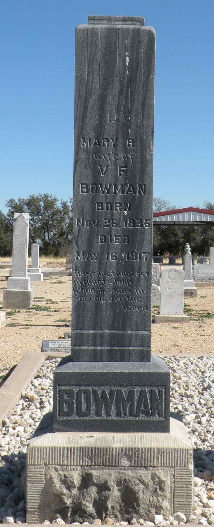 Mary R. <i>Coker</i> Bowman