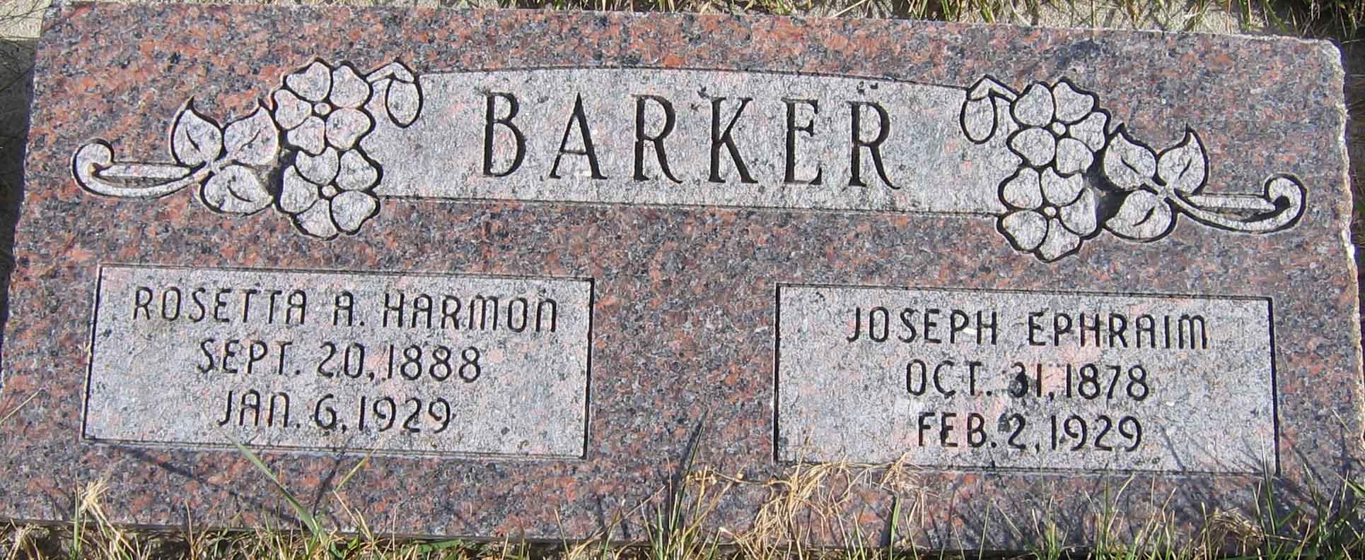 Joseph Ephraim Barker