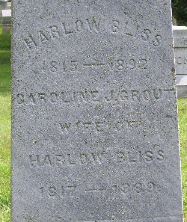 Caroline J. <i>Grout</i> Bliss