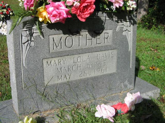 Mary Lola <i>Nicely</i> Davis