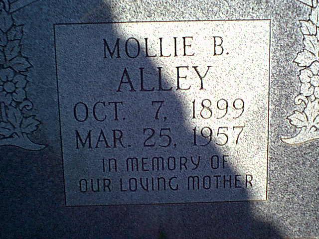 Mollie B <i>Thomas</i> Alley