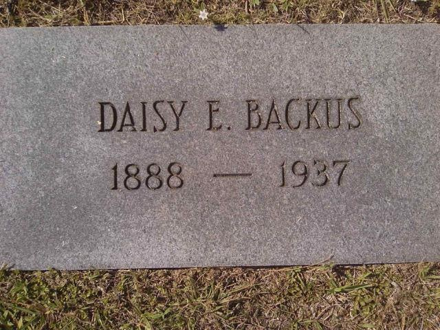 Daisy Edith <i>White</i> Backus