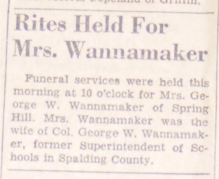 Susan Sue <i>Moore</i> Wannamaker