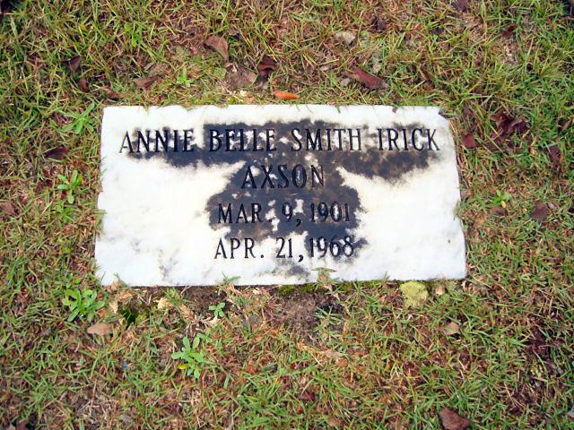 Annie Belle <i>Smith</i> Axson