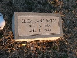 Eliza Jane <i>Pendergraft</i> Bates