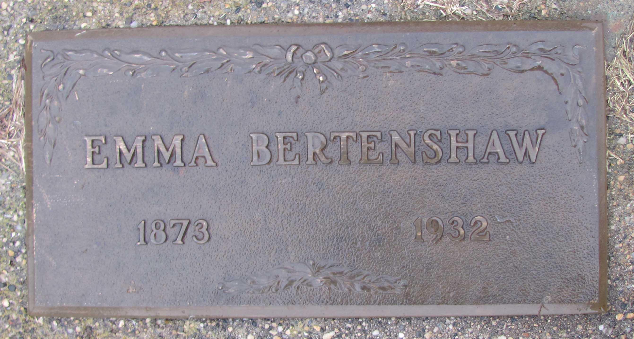 Clara Emma <i>Buckles</i> Bertenshaw