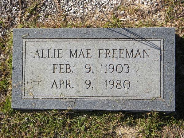Allie Mae <i>Rivers</i> Freeman