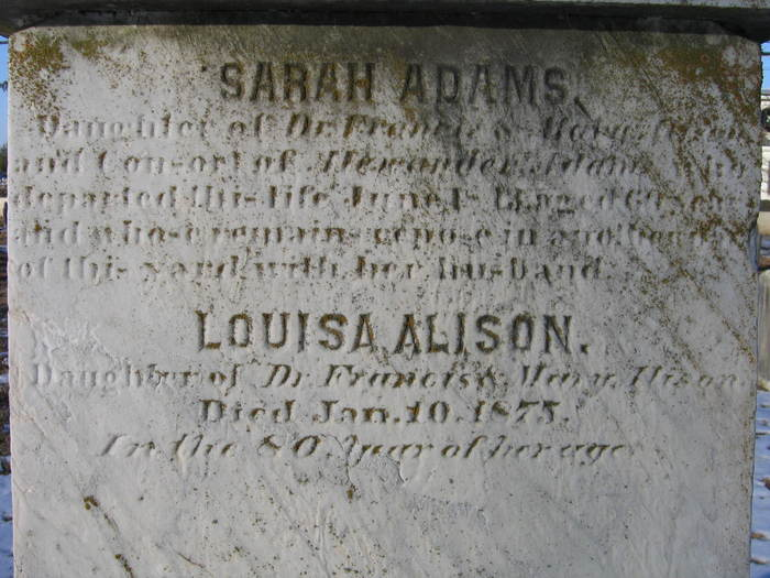 Sarah <i>Alison</i> Adams