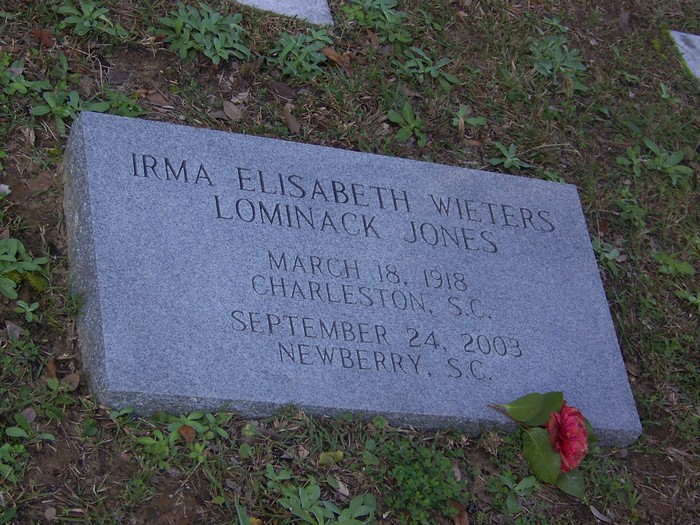 Irma Elisabeth <i>wieters</i> Lominack-Jones