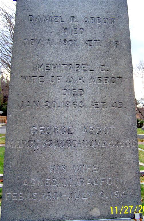 Agnes Margaret <i>Radford</i> Abbot