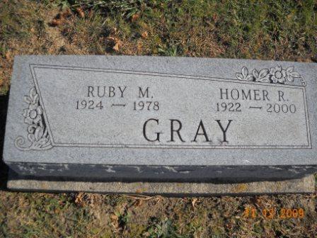 Ruby M <i>Franklin</i> Gray