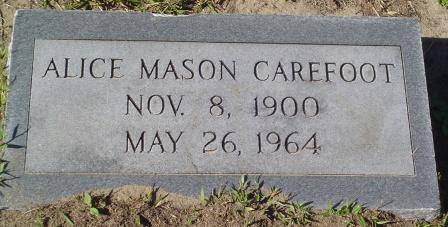 Alice <i>Mason</i> Carefoot