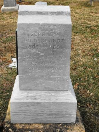Sophia B Aunt Sophia <i>Wilson</i> Hildebrandt