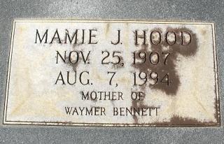 Mamie Julia <i>Hood</i> Bennett