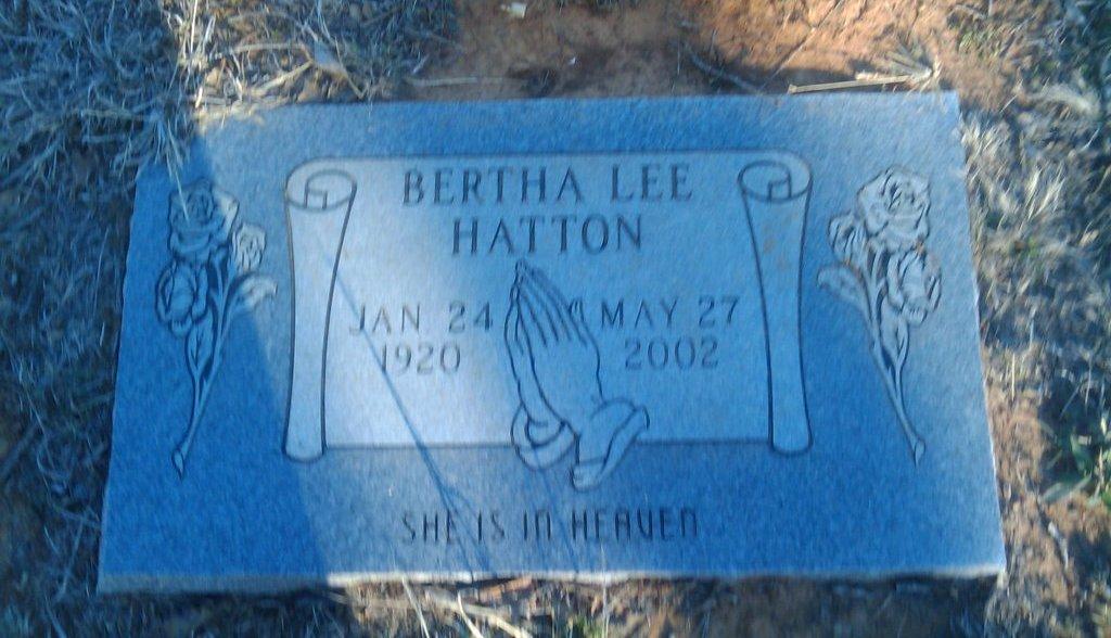Bertha Lee <i>Carroll</i> Hatton