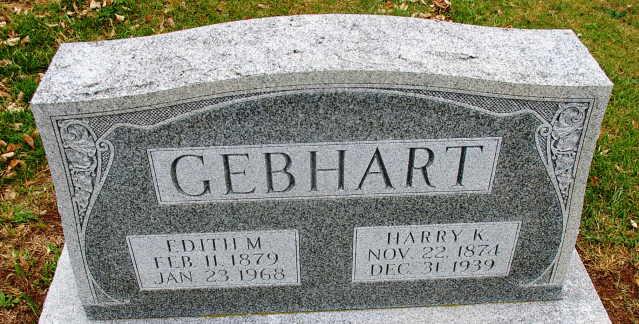 Edith M <i>Gerberich</i> Gebhart