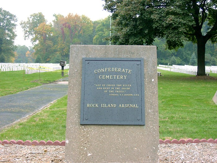Rock Island Confederate Cemetery in Rock Island, Illinois