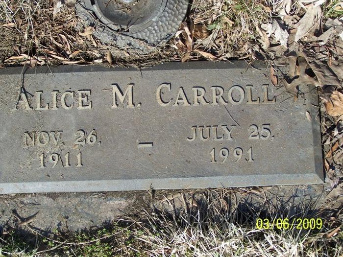 Alice (Peg) M. <i>Fargo</i> Carroll